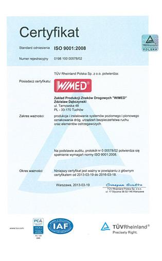 wimed-certyfikat