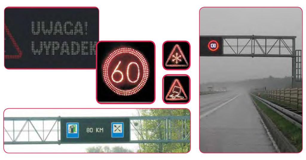 Tablice zmiennej treści, aktywne oznakowanie drogowe