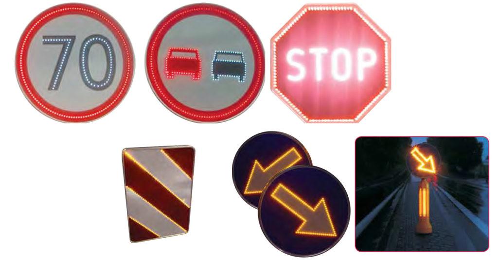 Znaki świetlne, aktywne oznakowanie drogowe